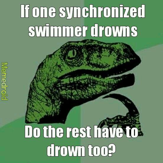 Swimming - meme