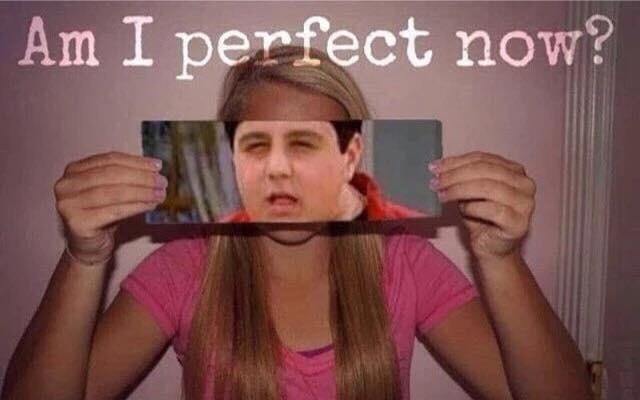 Well am I? AM I PERFECT NOW MEGAN!? - meme
