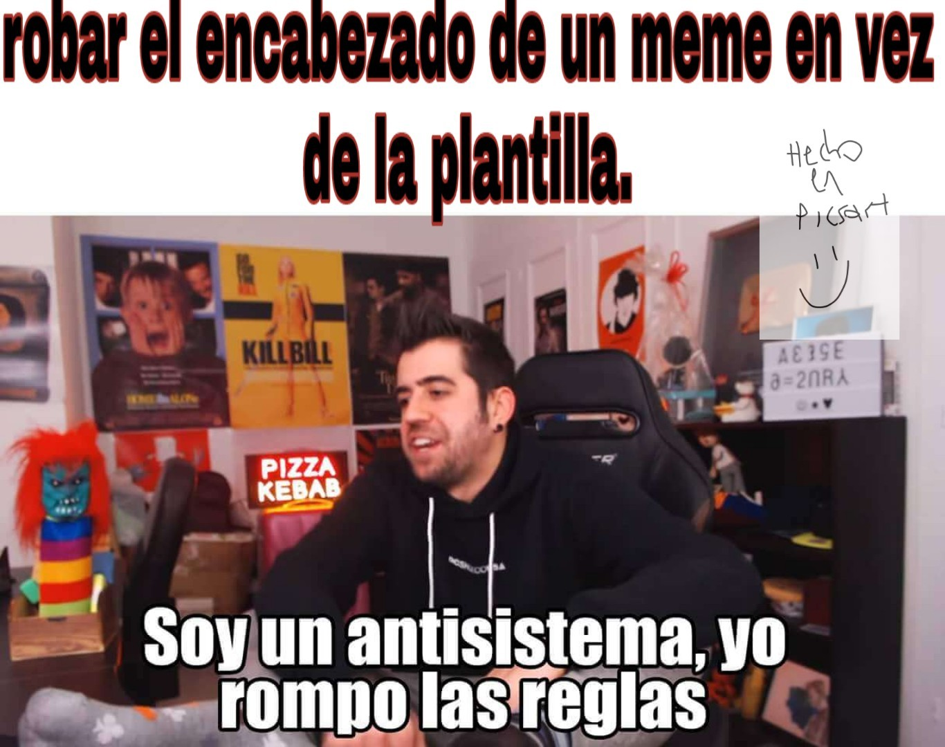 Viva plantilla play - meme