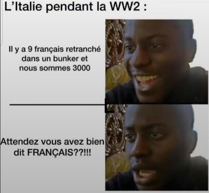Les italiens non pas d'honneur non plus - meme