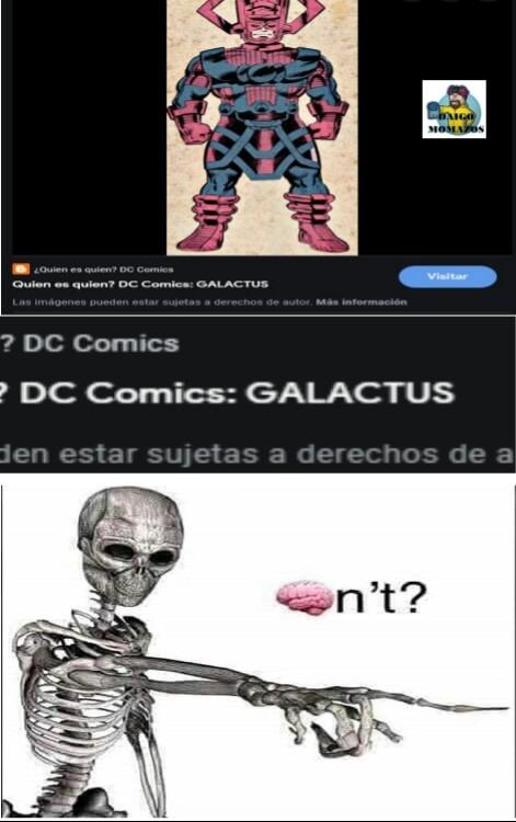 Galactus de DC... :facepalm: - meme