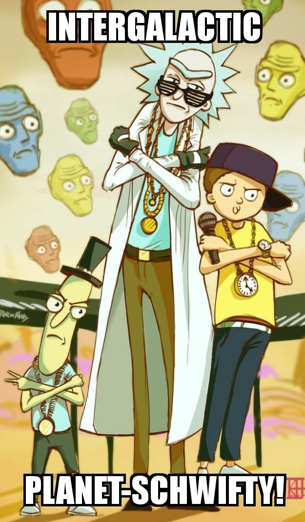 If Rick and morty were the beastie boys (not my art) - meme