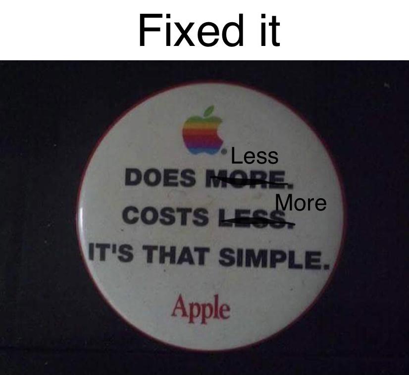 Now it's no longer false advertising - meme