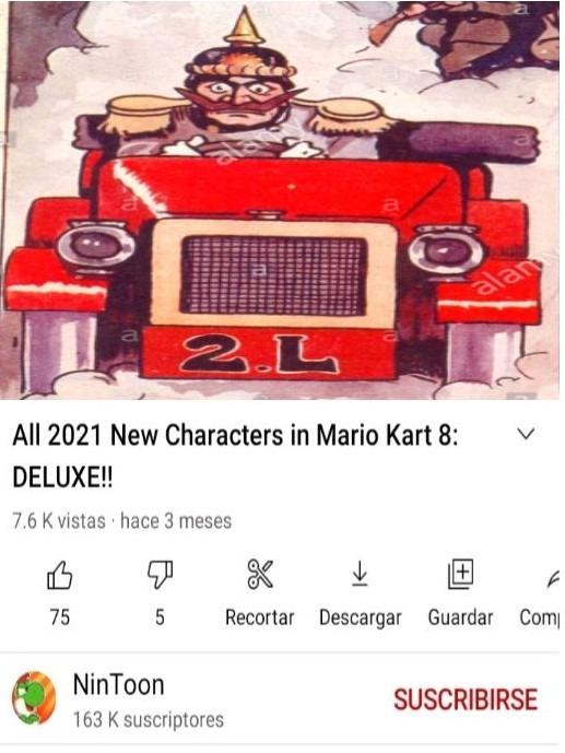 Epico el kaiser guillermo en mario kart - meme