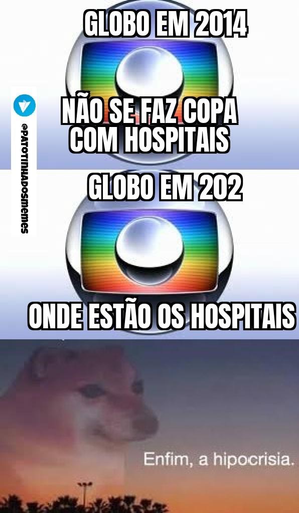 Meme globolixo hipocrisia