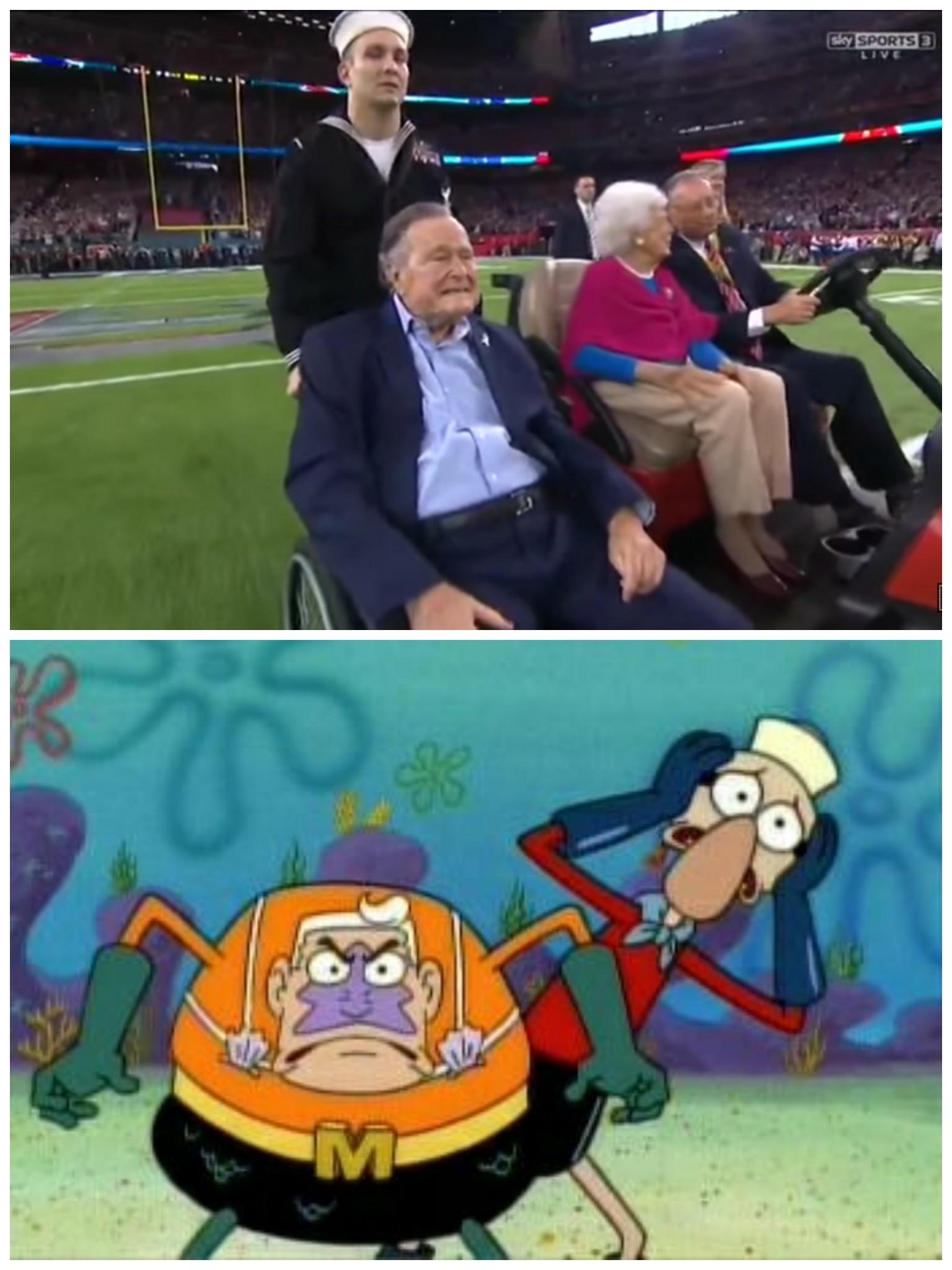 Spongebob's half time show was better - meme
