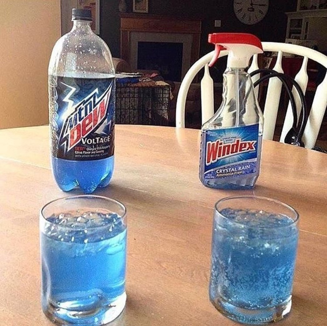 windex look more like a soda than mtndew - meme