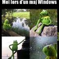 Moi lors d'un maj Windows
