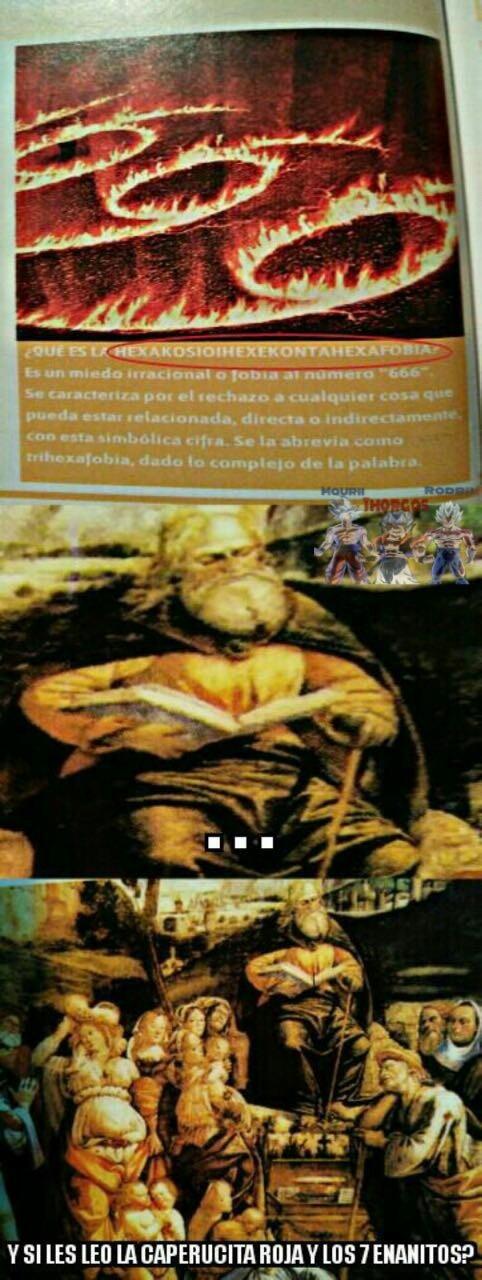 Ste Moises y la Hexakosioihexekontahexafobia - meme