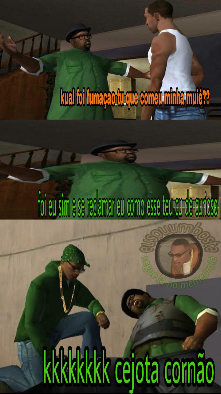 cj vs big fumaça - meme