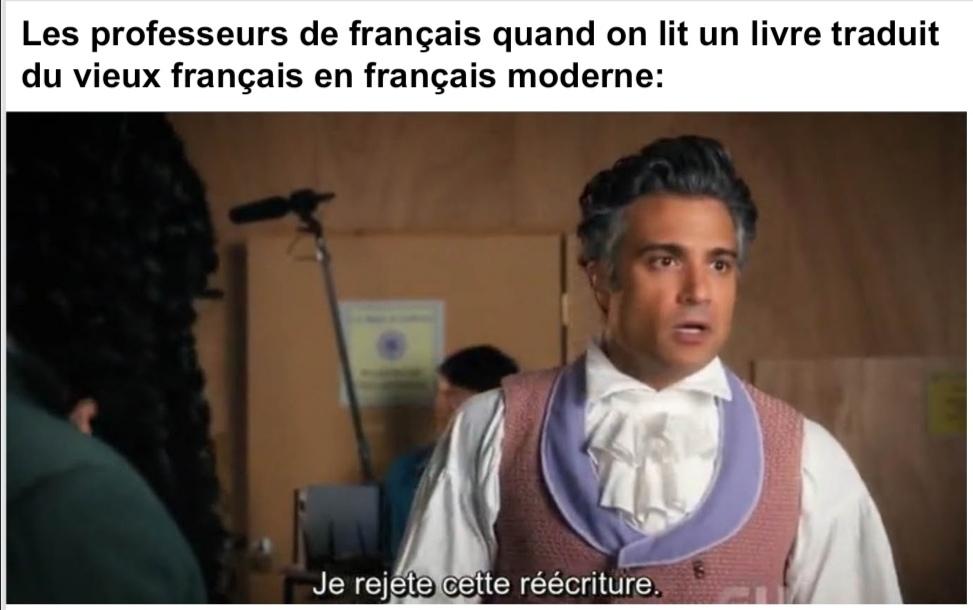 Tout ça pour pas avoir de bac français - meme
