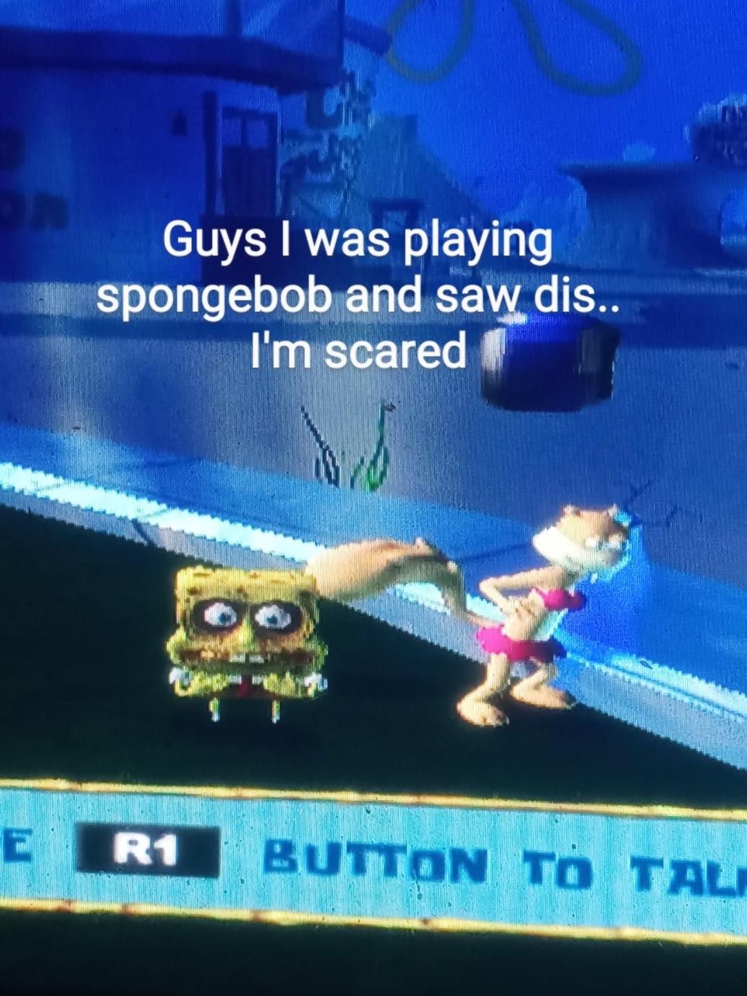 Has spongebob been doing drugs - meme