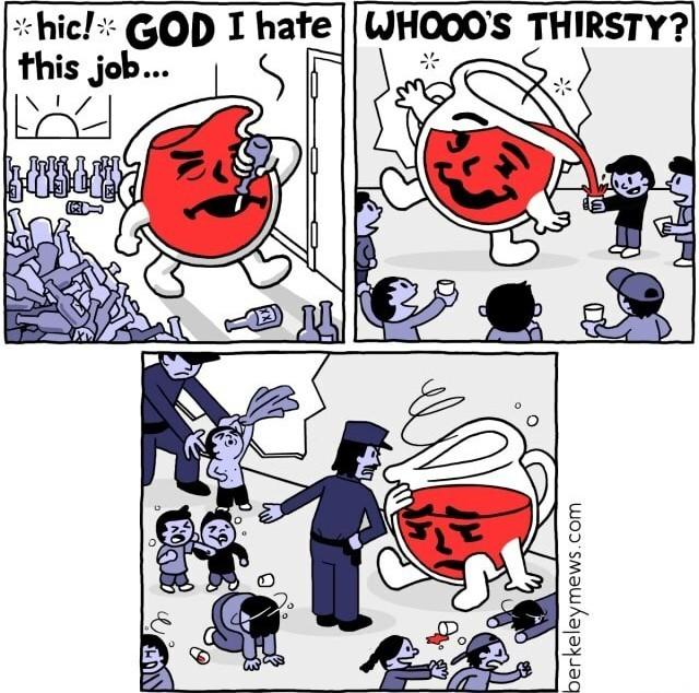 whooo's thirsty? - meme