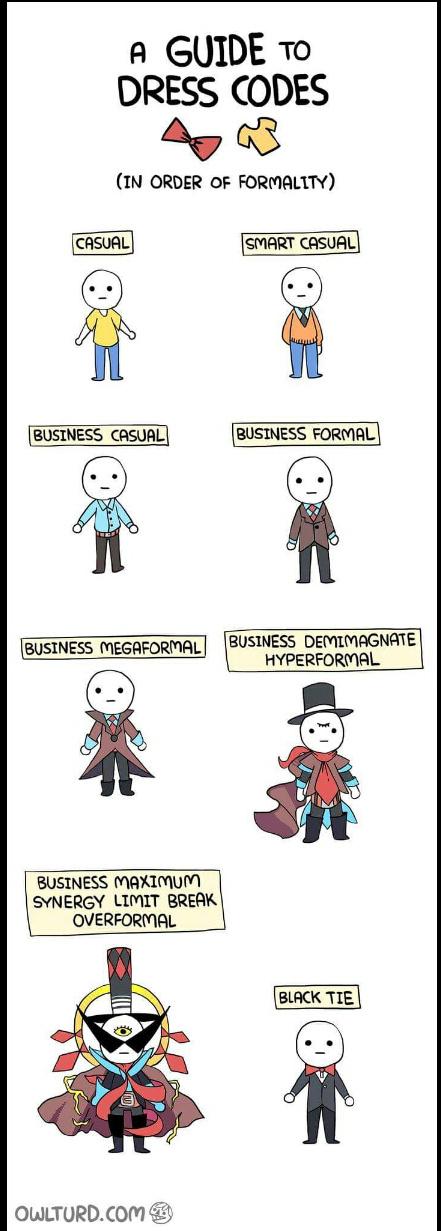 Dress code - meme