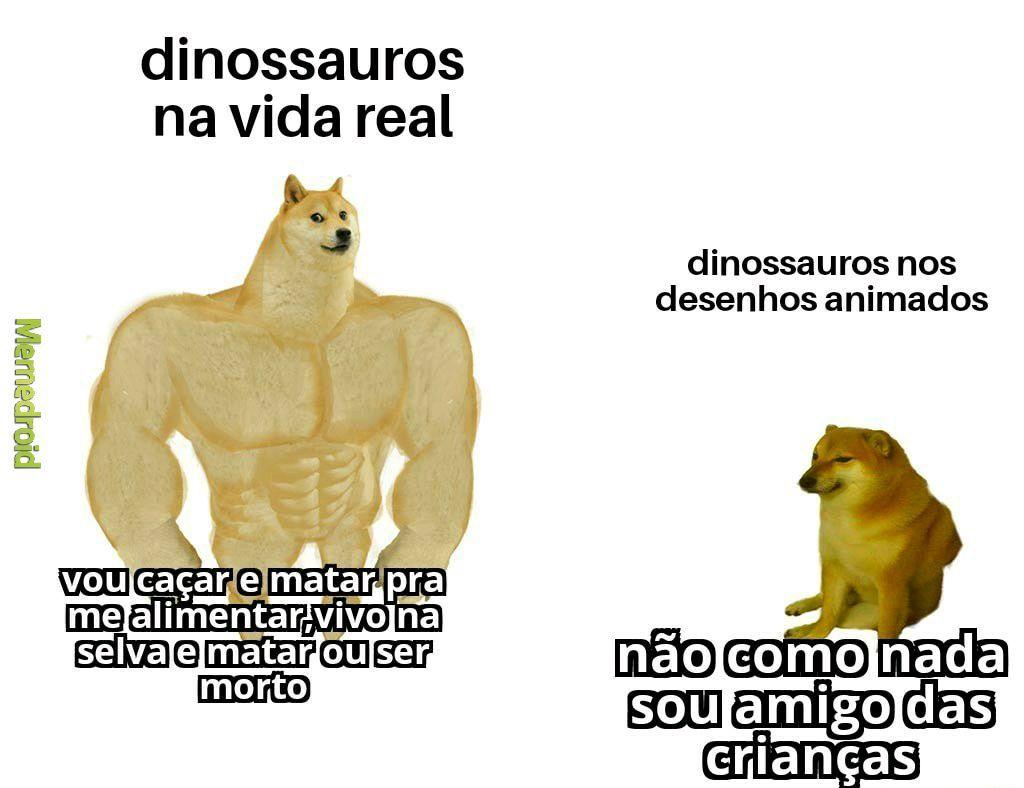 Dinossauros hoje em dia: petróleo. - meme