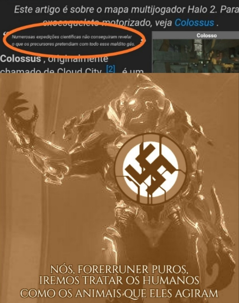 Toda a trama de Halo é baseada em alienígenas racistas - meme