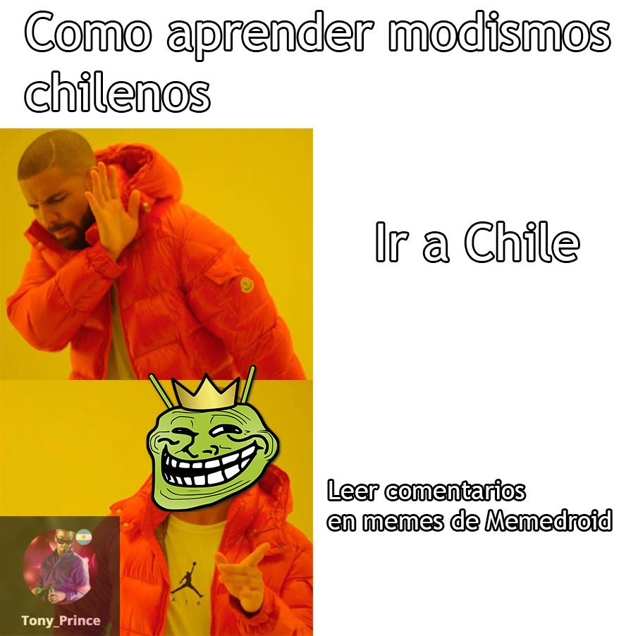 """Los quiero chilenos <3 Gracias a Memedroid supe lo que significaba """"fome la wea"""""""