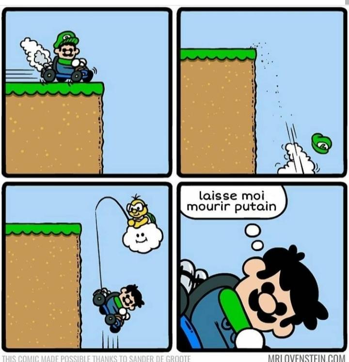 Pauvre Mario vert... - meme