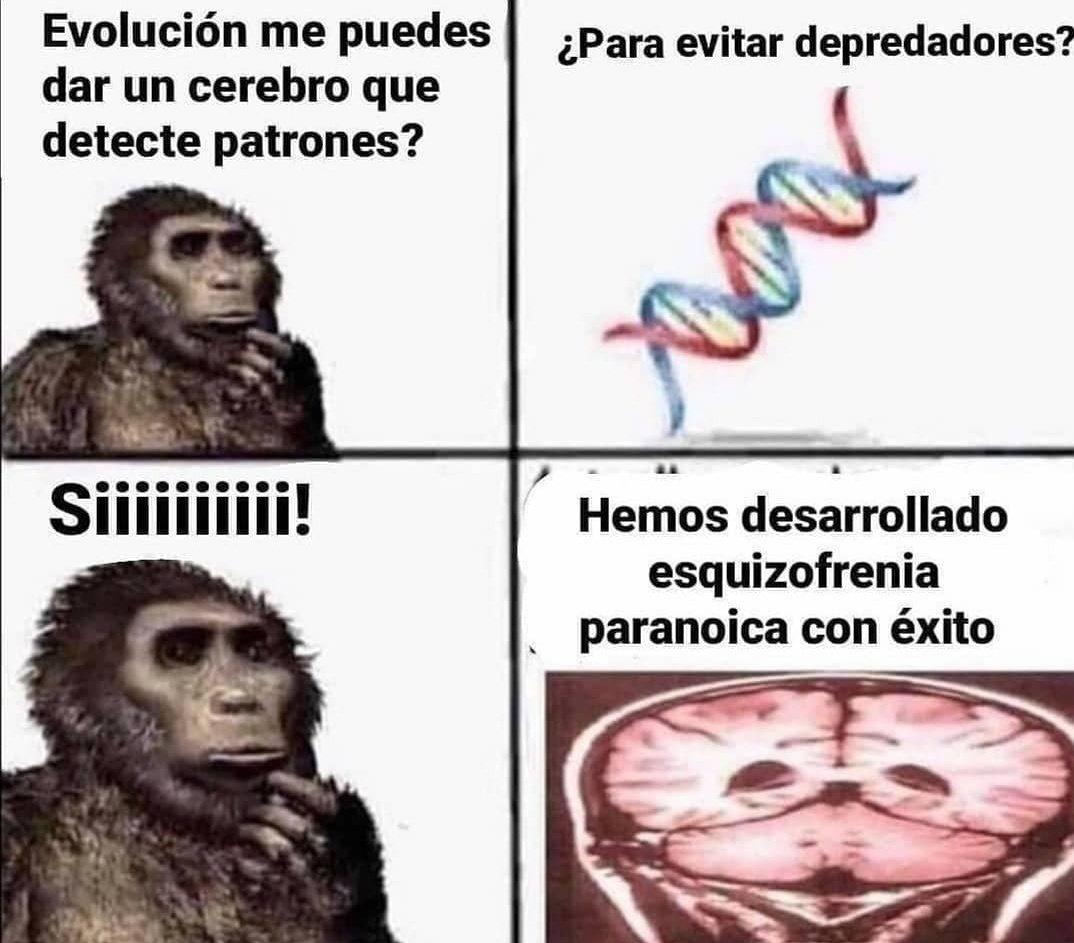 Muchas gracias Evolución - meme