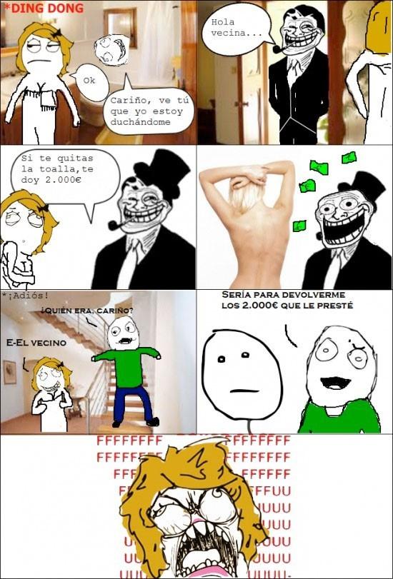 Vecino troll - meme