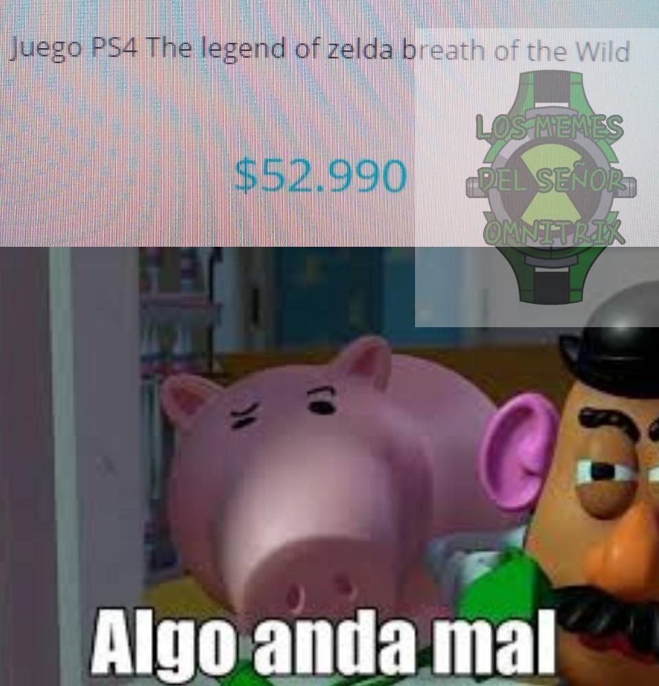 Zelda pa la plei si k aprovechen el oferton xd - meme