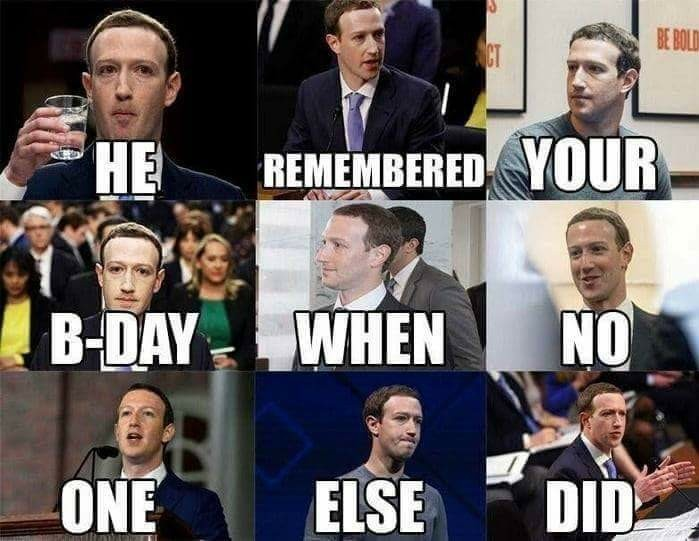 The Zuc man loves you - meme