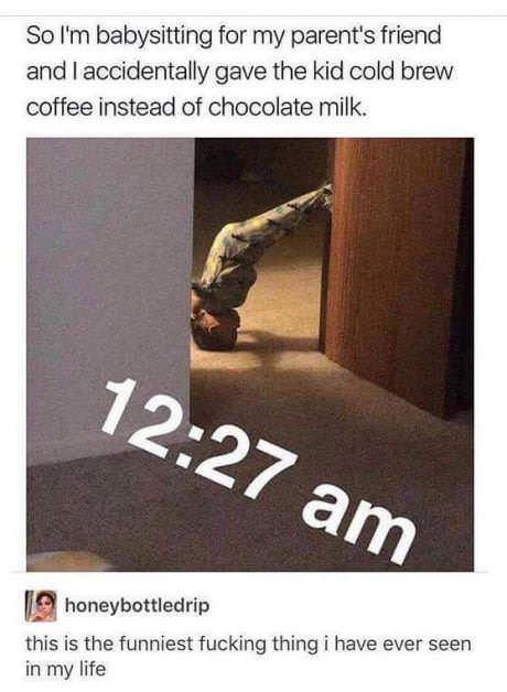 Cold brew coffee knocks me out - meme