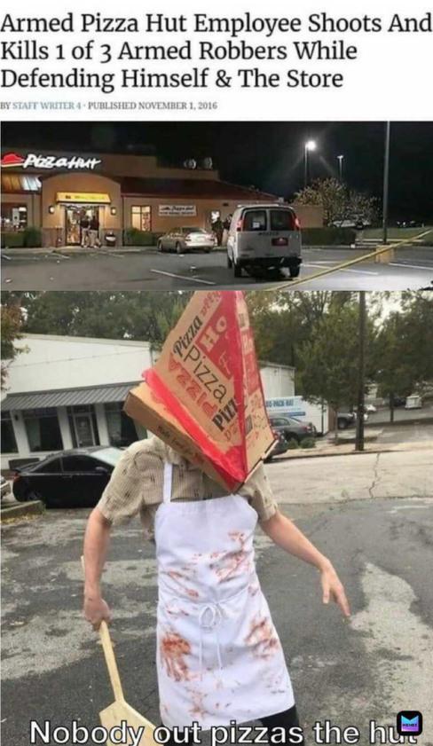 NO ONE OUT PIZZAS THE HUT - meme