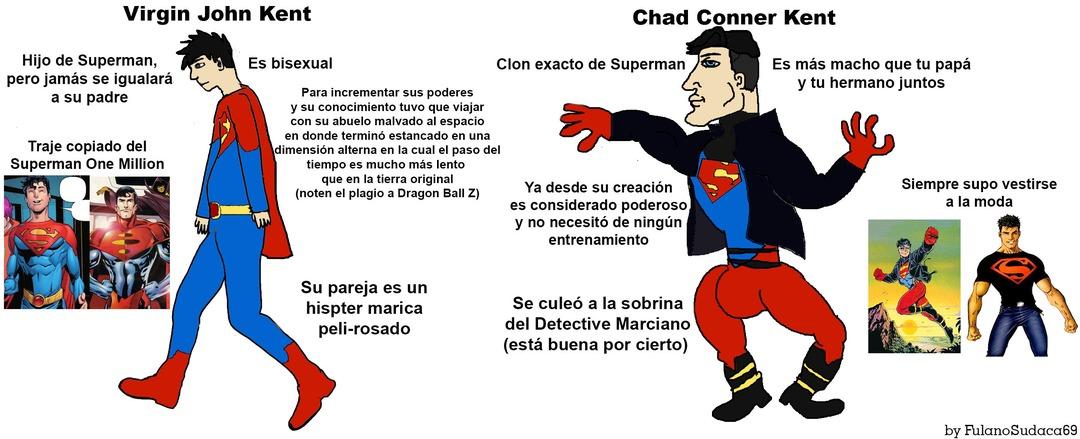 Siguiendo con la misma temática del meme anterior, para mi Kon-El siempre será el verdadero Superboy. Con Jon hubo potencial en Supersons pero la cagaron con la inclusividad y demás (gracias Bendis)