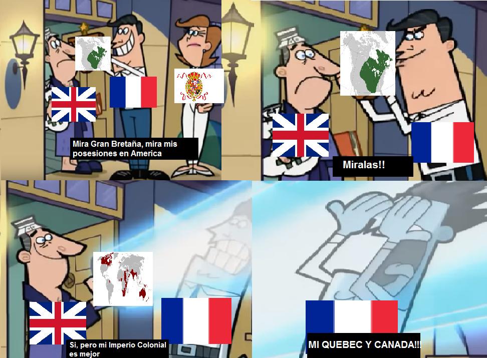 Nueva francia, nueva españa, nueva inglaterra, nueva holanda... - meme