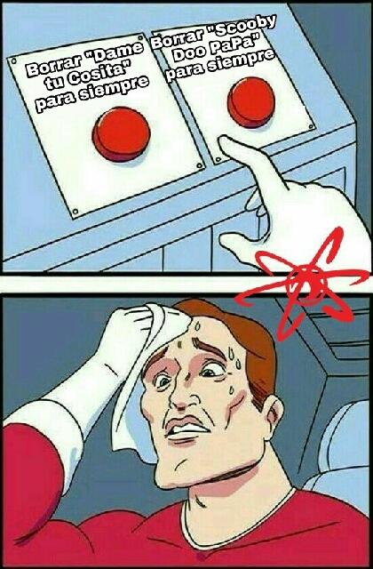Difícil decisión. - meme
