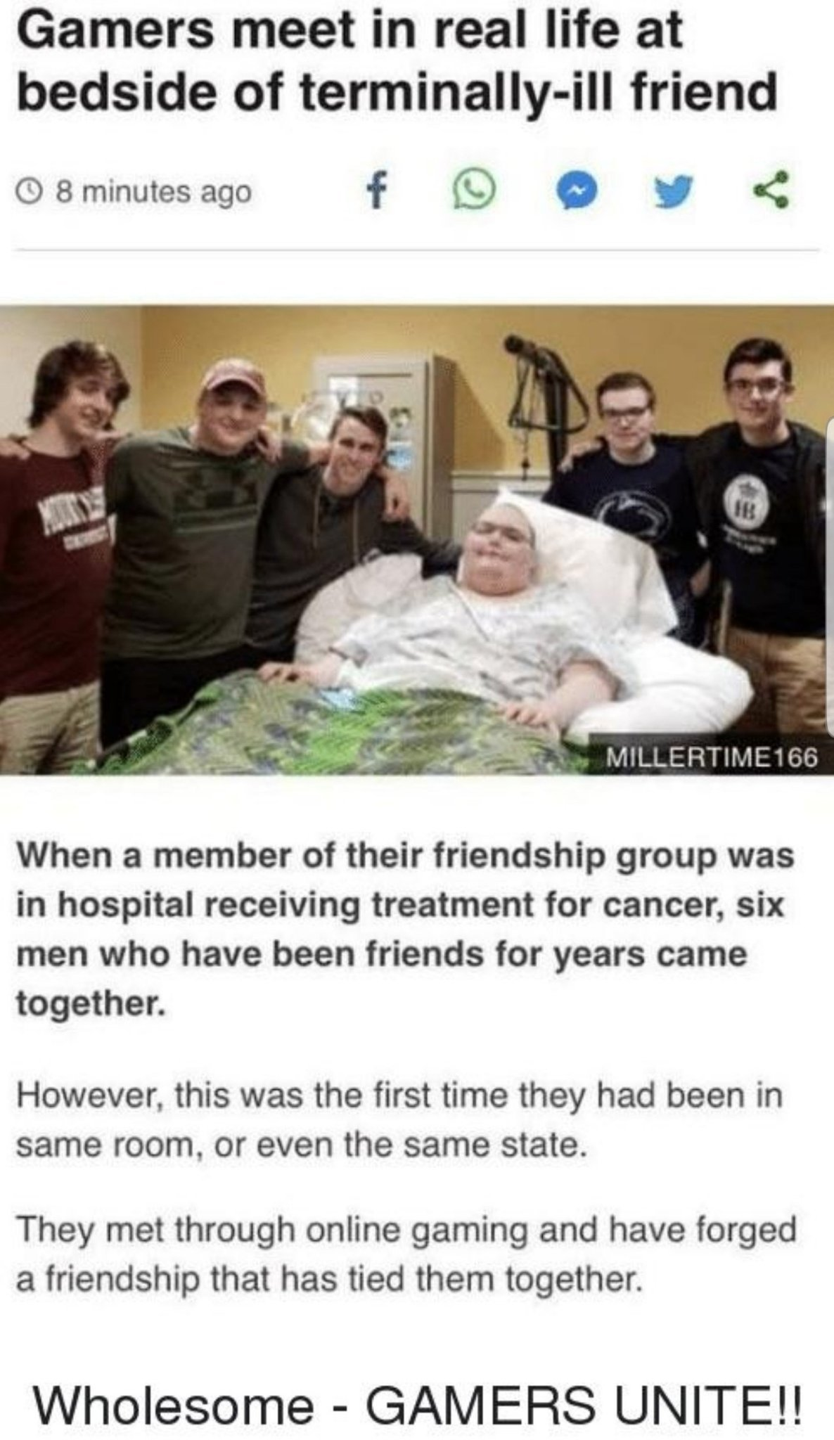Gamers are true friends - meme