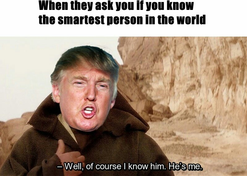 He is, like, really smart - meme