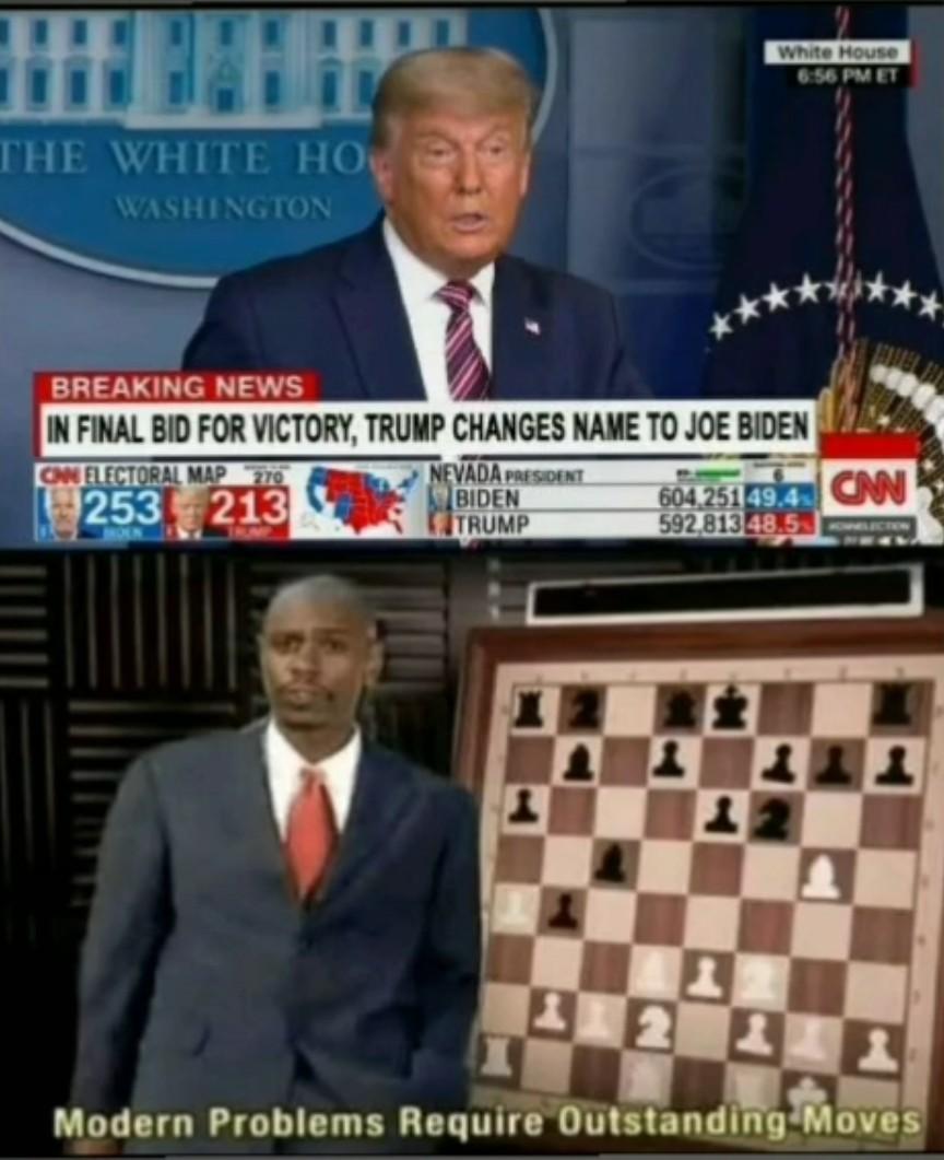 Trump n'est pas si con apparemment - meme