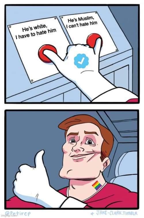 Left Liberals be like - meme
