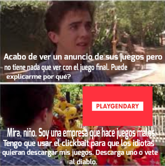 Banda, que es peor? Good Job Games, Voodoo games o playgendary? - meme