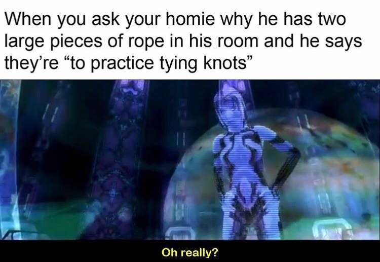 I love tying knots - meme