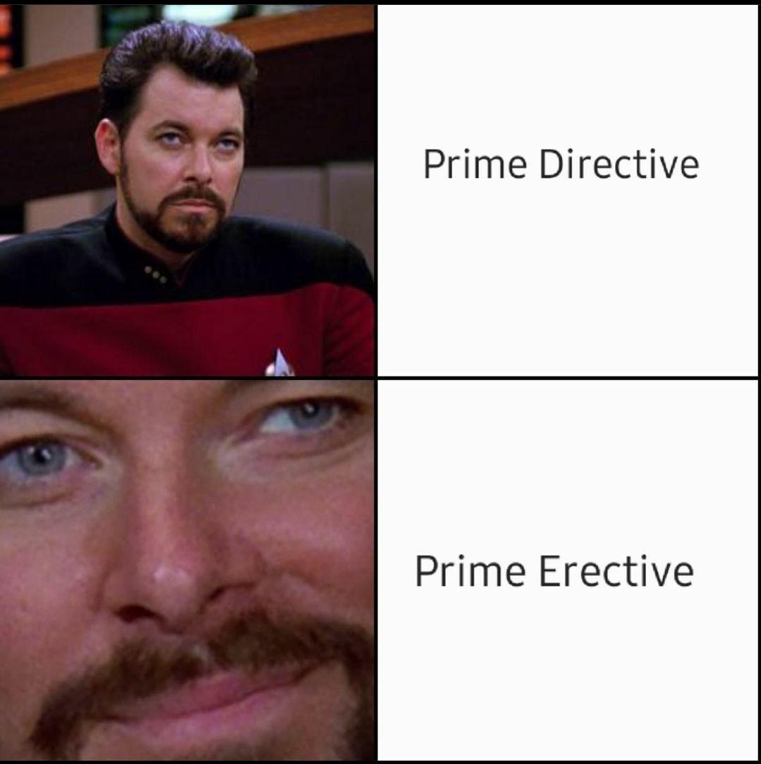 Follow prime directive unless the plot says no - meme