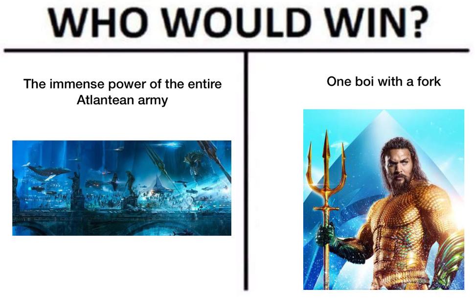 Aquaman sucked - meme