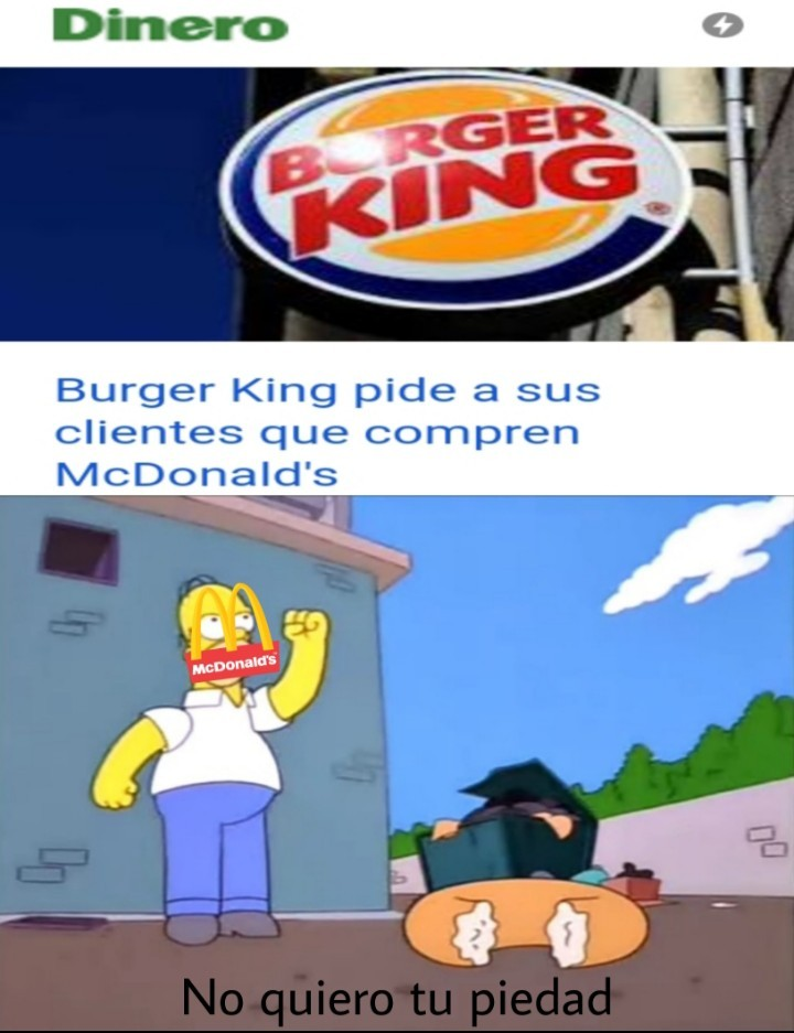 Burger King y McDonald's - meme