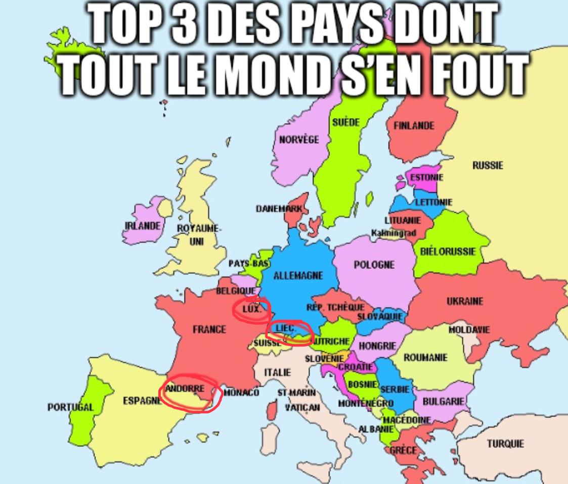 Pays dont tout le monde s'en fout - meme