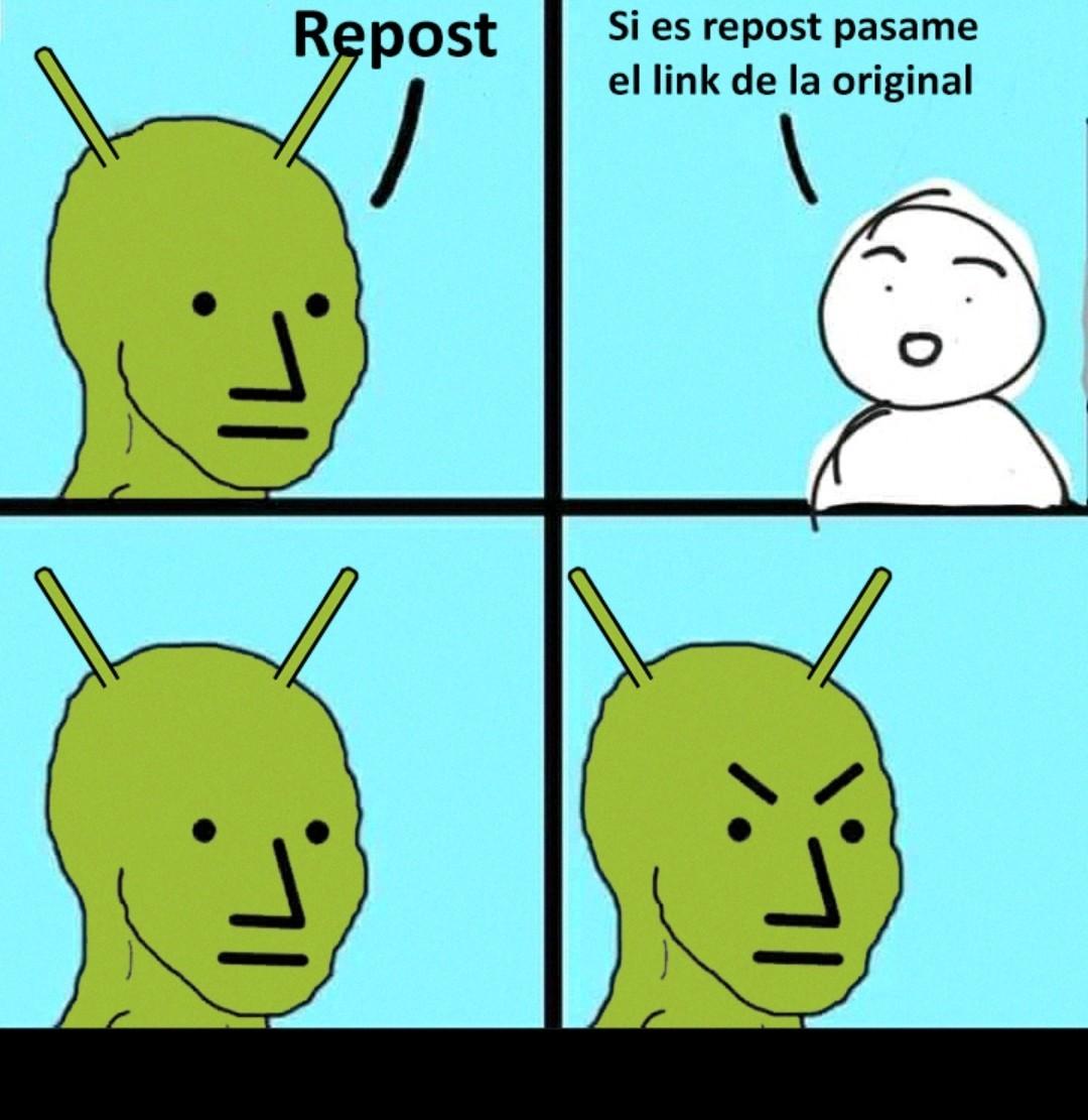 Pasen link del original - meme