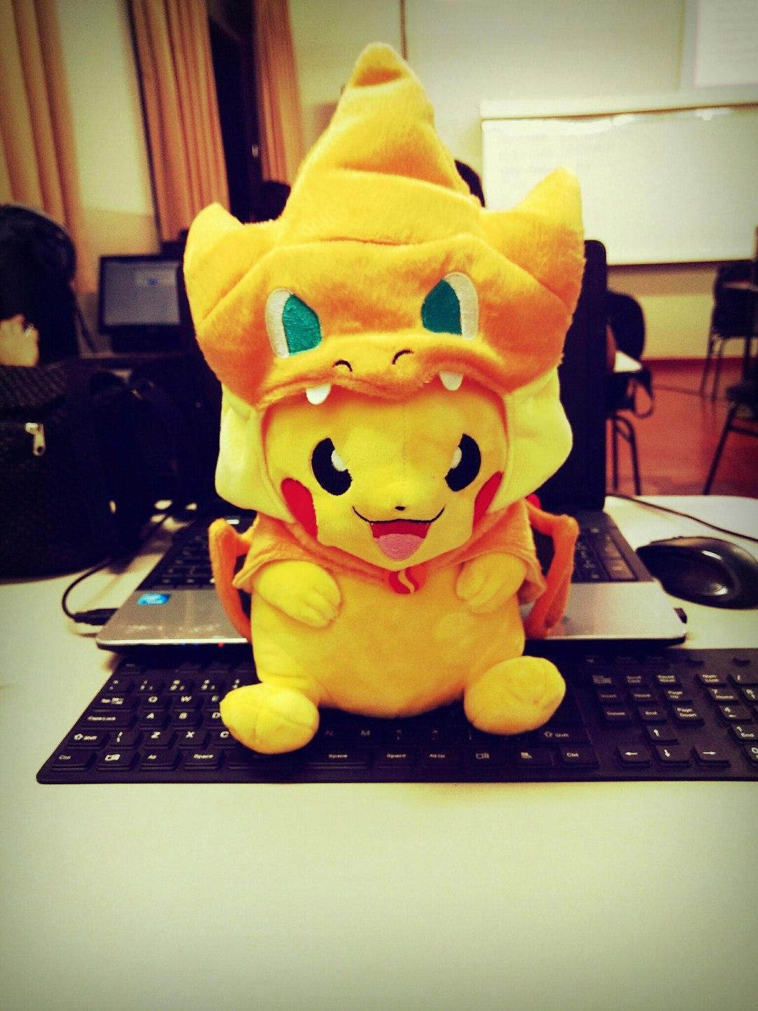 Quando vc nasce Pikachu mas é Charizard - meme