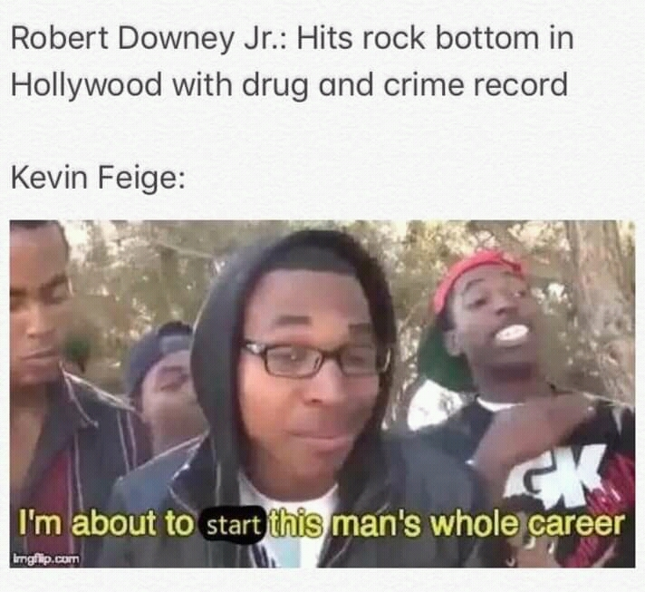 Imagine what RDJ would have done without Iron Man - meme