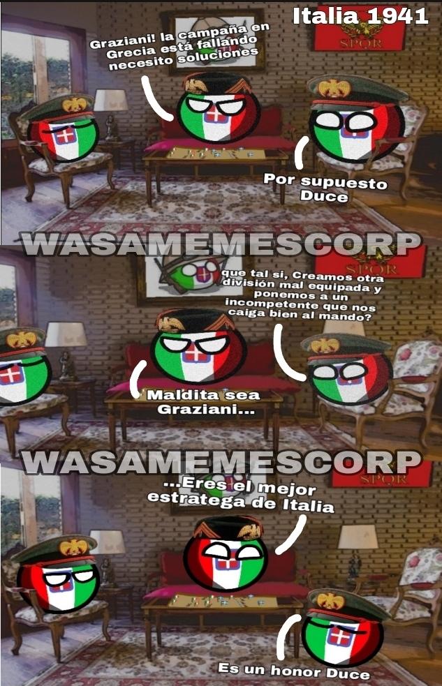 Italia, unos pendejos en estrategia - meme