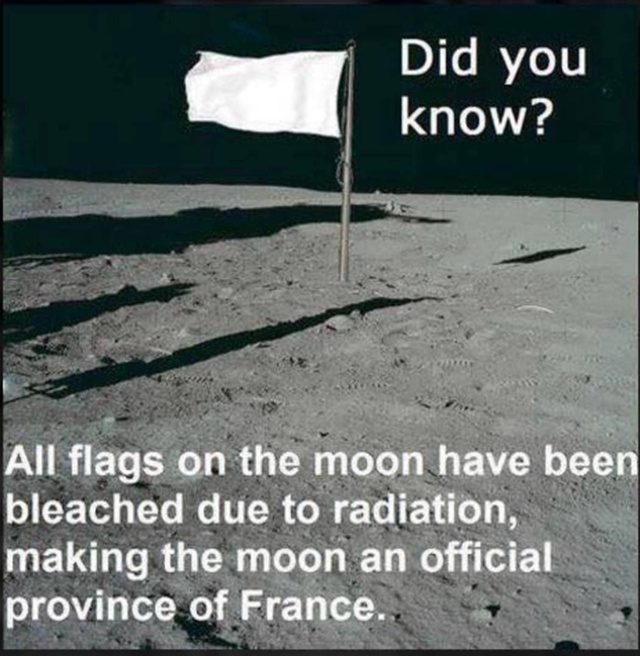 The moon is now a proviince of France - meme