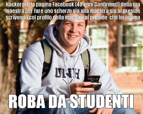 Scherzi da studenti - meme