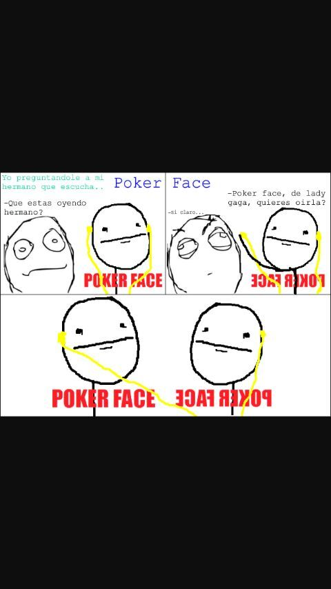 POKER FACE - meme