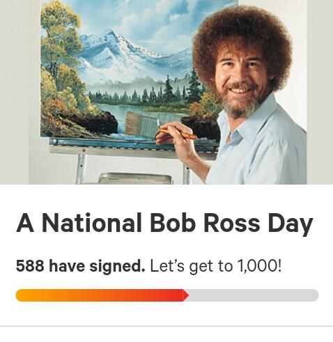 Bob Ross Day - meme
