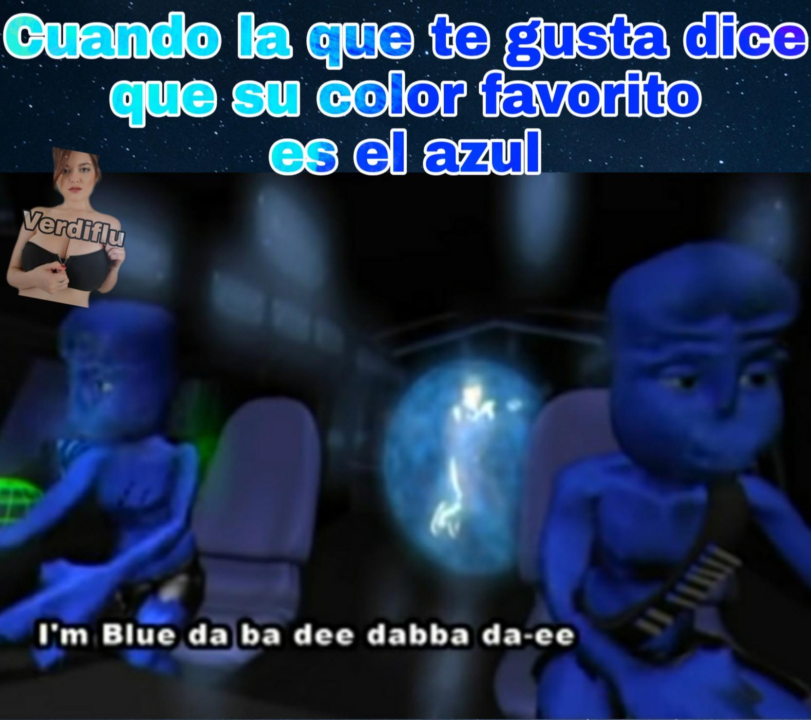 I'm blue - meme